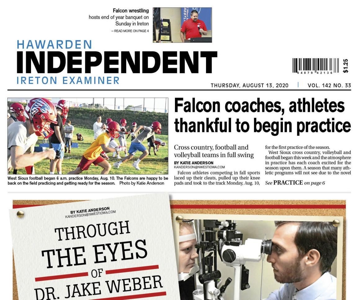 Hawarden Independent/Ireton Examiner Aug. 13, 2020