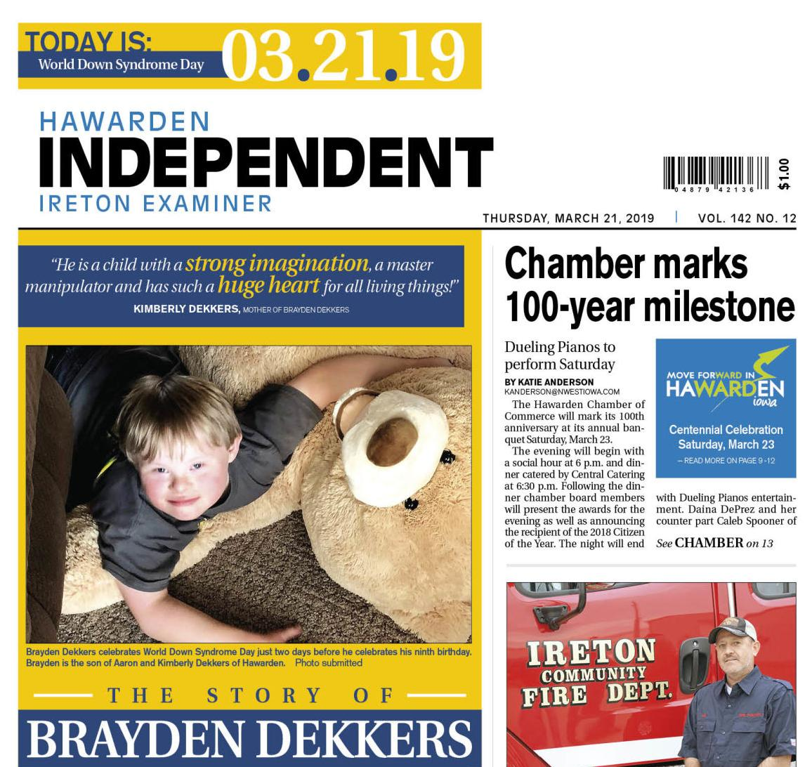 Hawarden Independent/Ireton Examiner March 21, 2019