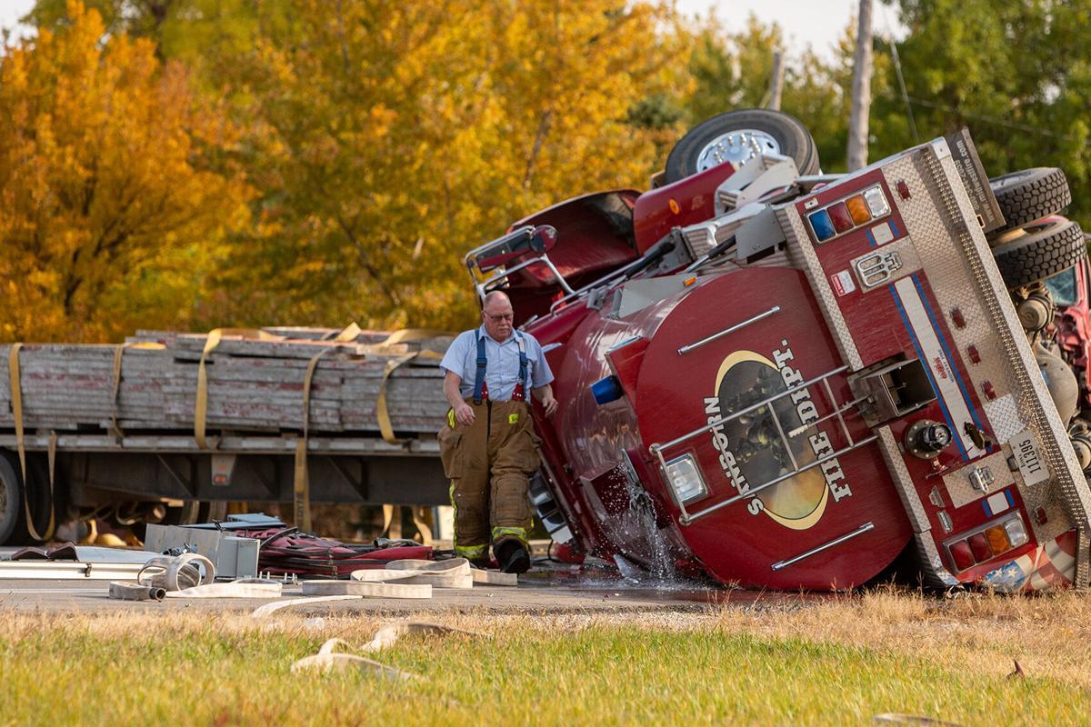 Randy Lyman at Sanborn crash site