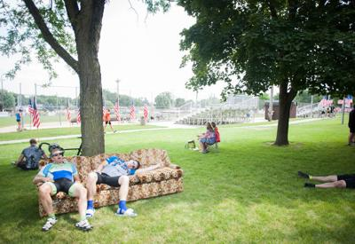 Park couches in Sheldon