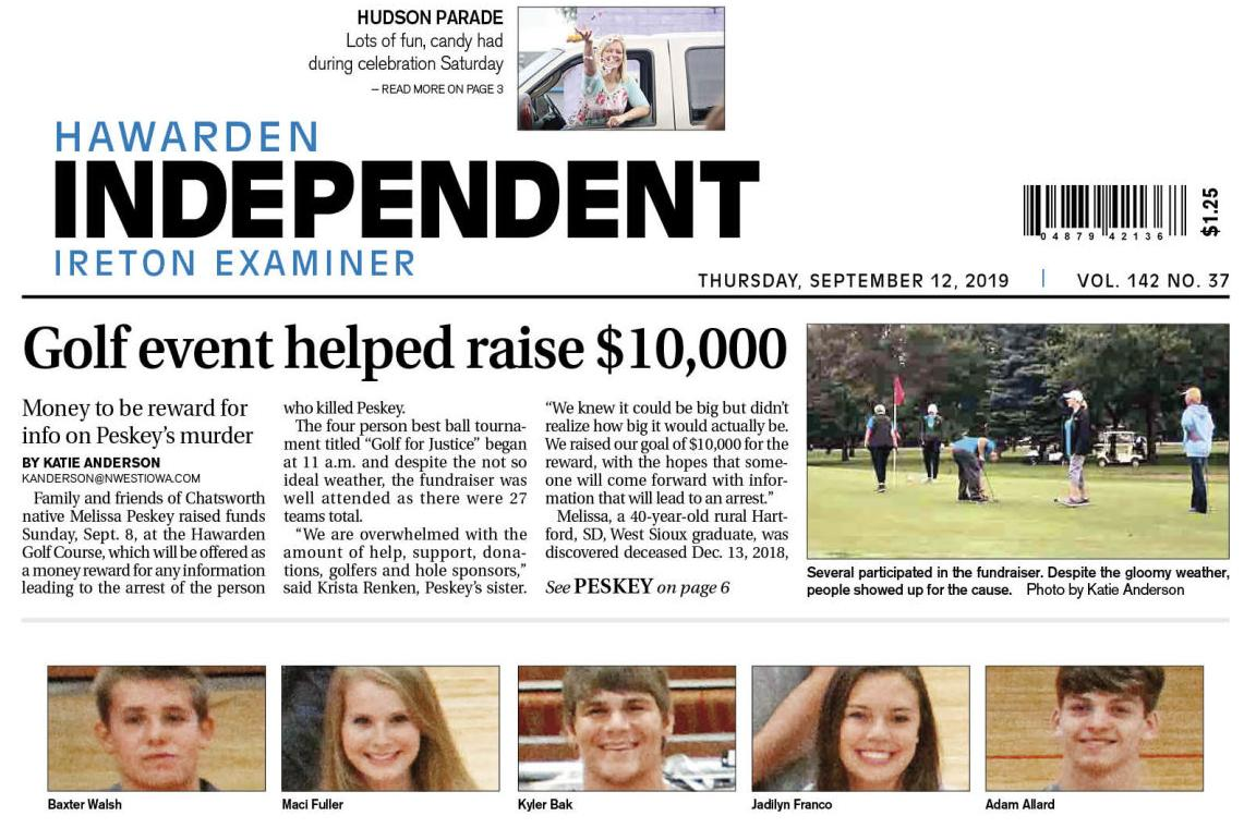 Hawarden Independent/Ireton Examiner Sept. 12, 2019