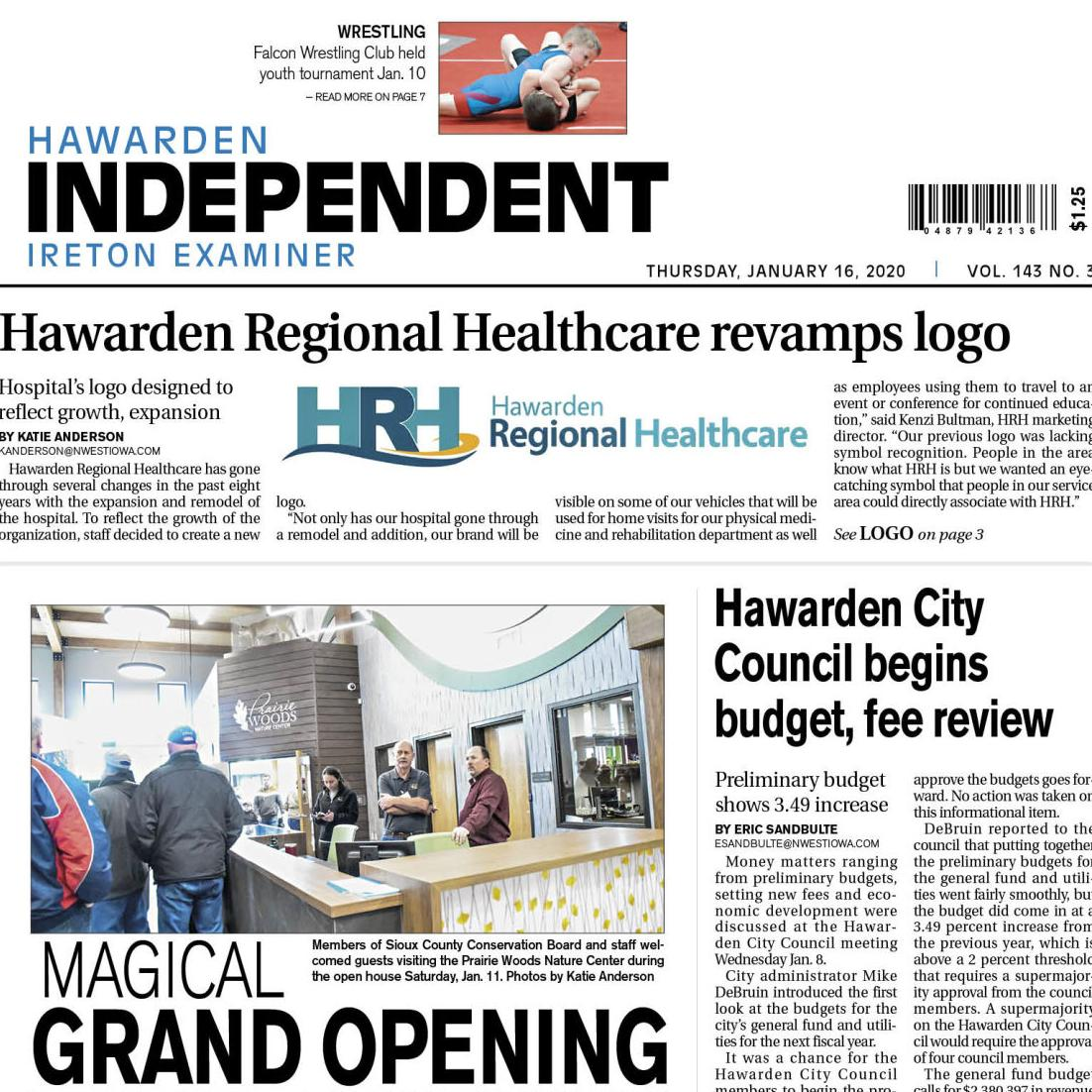 Hawarden Independent/Ireton Examiner Jan. 18, 2020