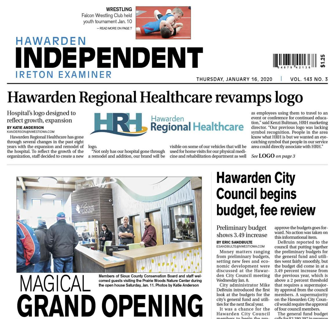 Hawarden Independent/Ireton Examiner Jan. 18, 2020