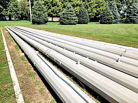 G-LR softball field light poles