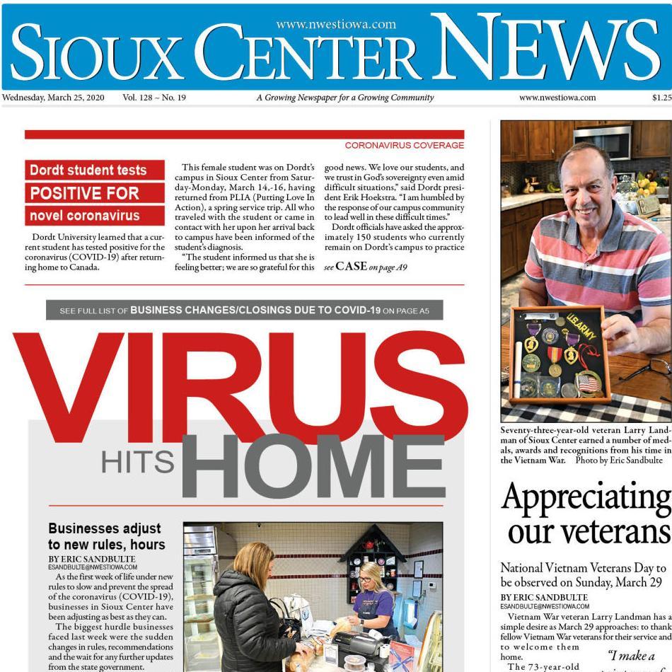 Sioux Center News Mar. 25, 2020