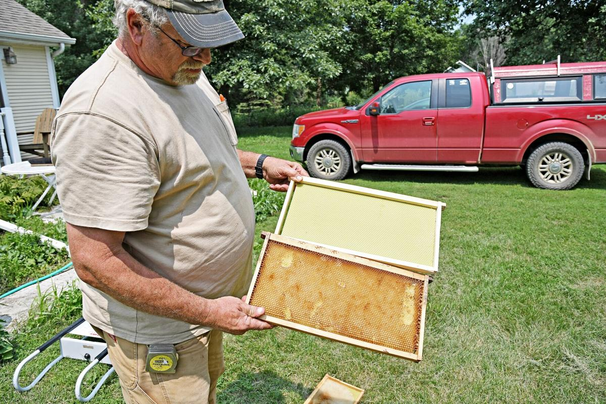 Dave Korver with Hive Frames