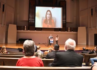 Tulsi Gabbard livestreams Dordt speech
