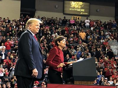 President Trump and Gov. Reynolds in Council Bluffs