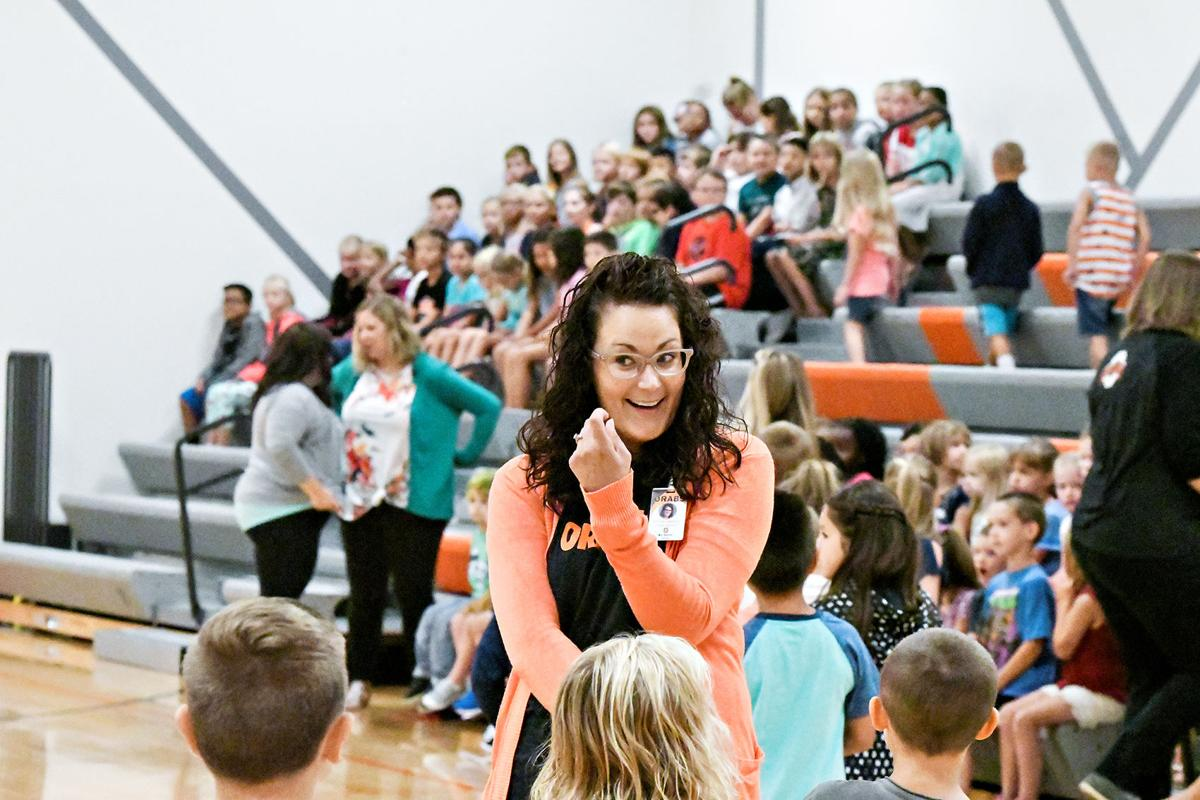 East Elementary first day assembly