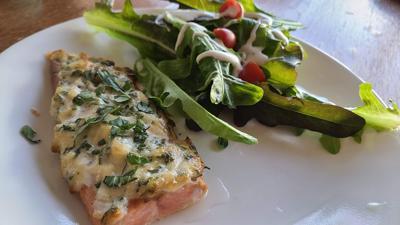 Air Fryer Basil-Parmesan Salmon