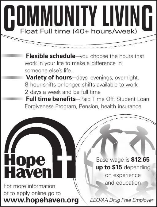 Community Living Float-Hope Haven pdf | Employment | nwestiowa com
