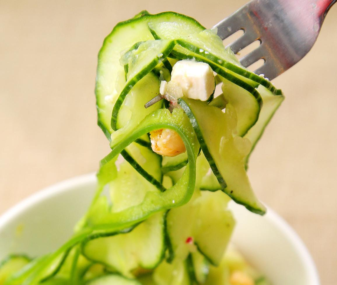 Cucumber and Chick Pea Salad