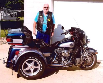 Arie Boon with motorcycle