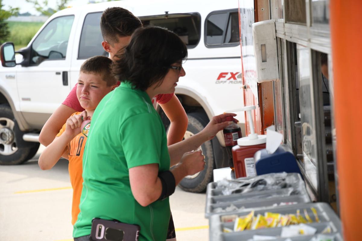 Customers at NCC Food Truck