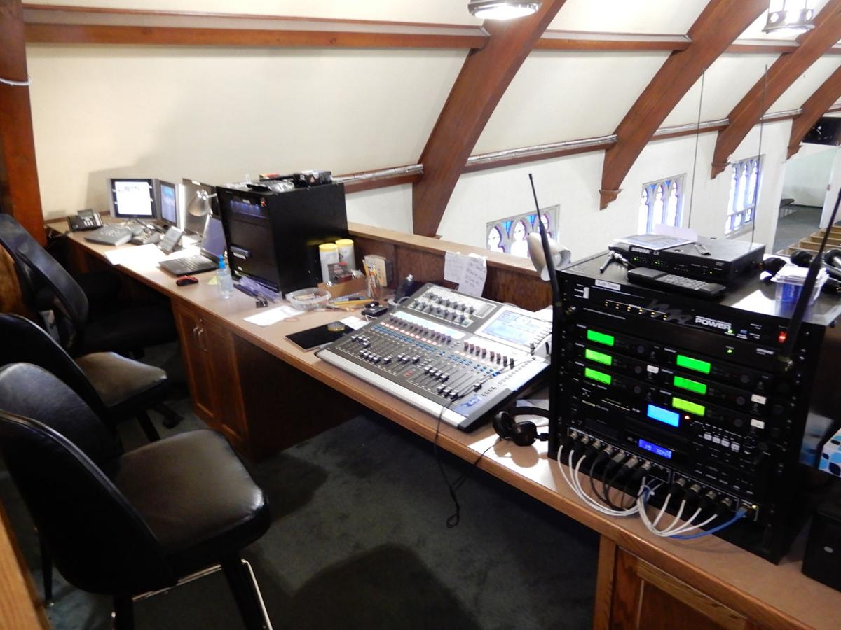 First Reformed Church tech booth