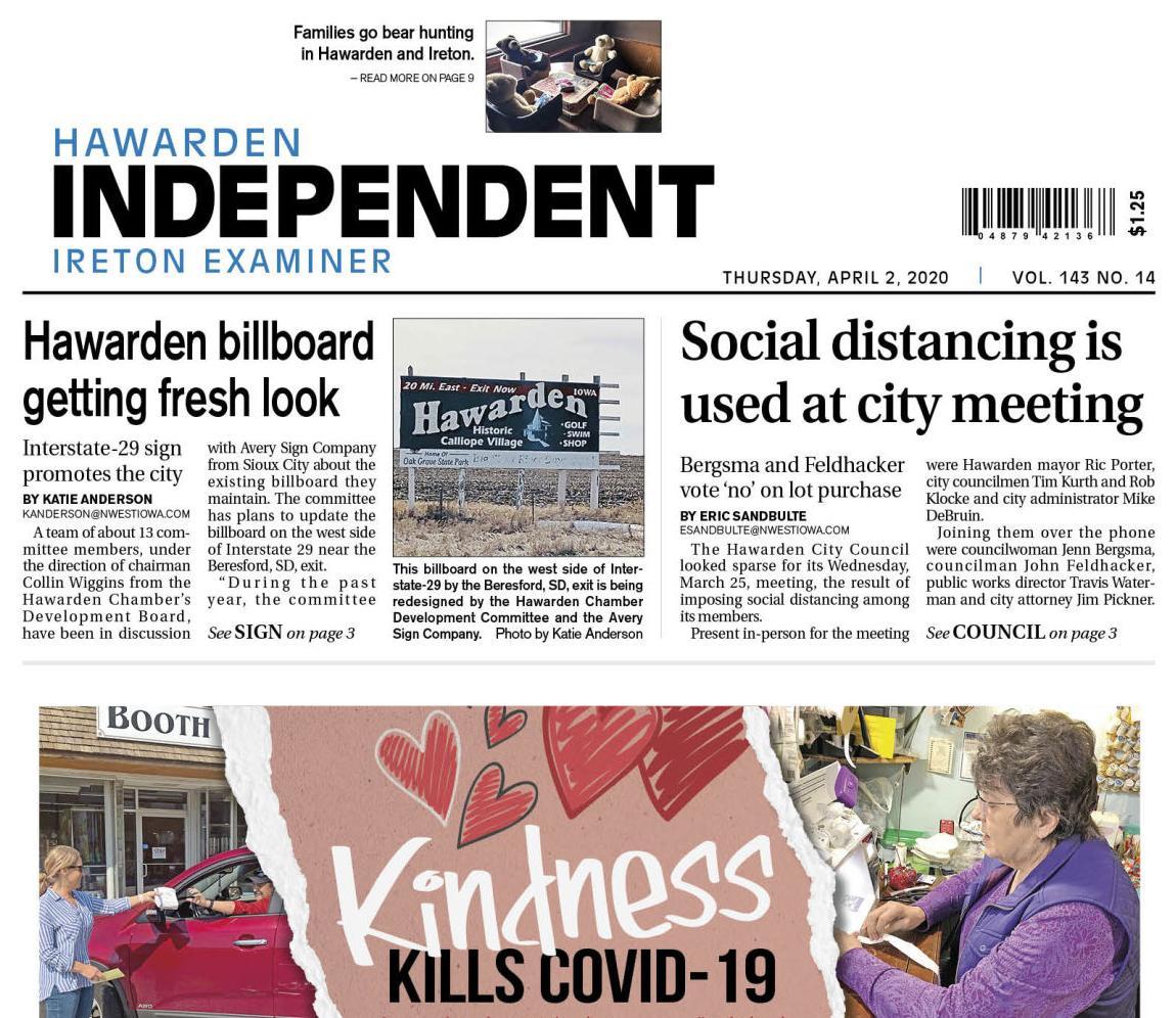 Hawarden Independent/Ireton Examiner APRIL 4, 2020