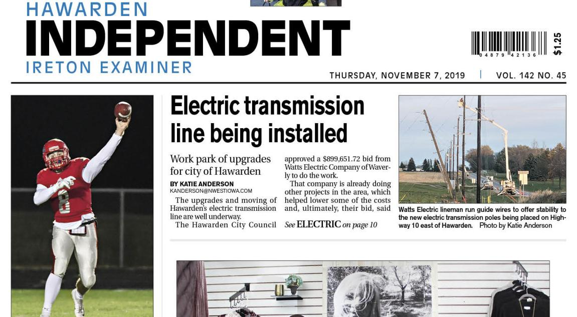 Hawarden Independent/Ireton Examiner Nov. 7, 2019