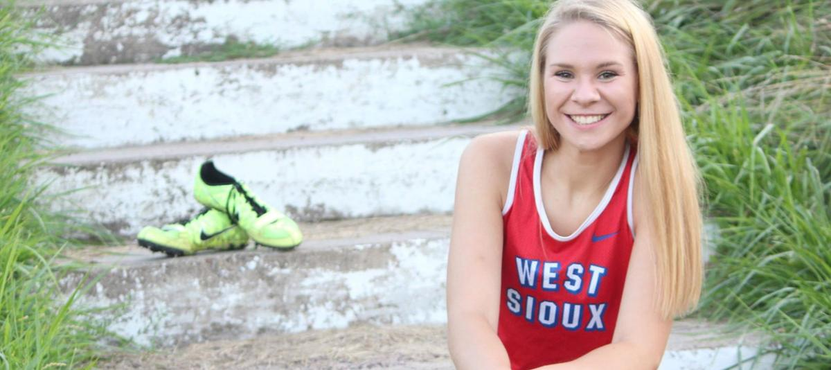 West Sioux runner signs