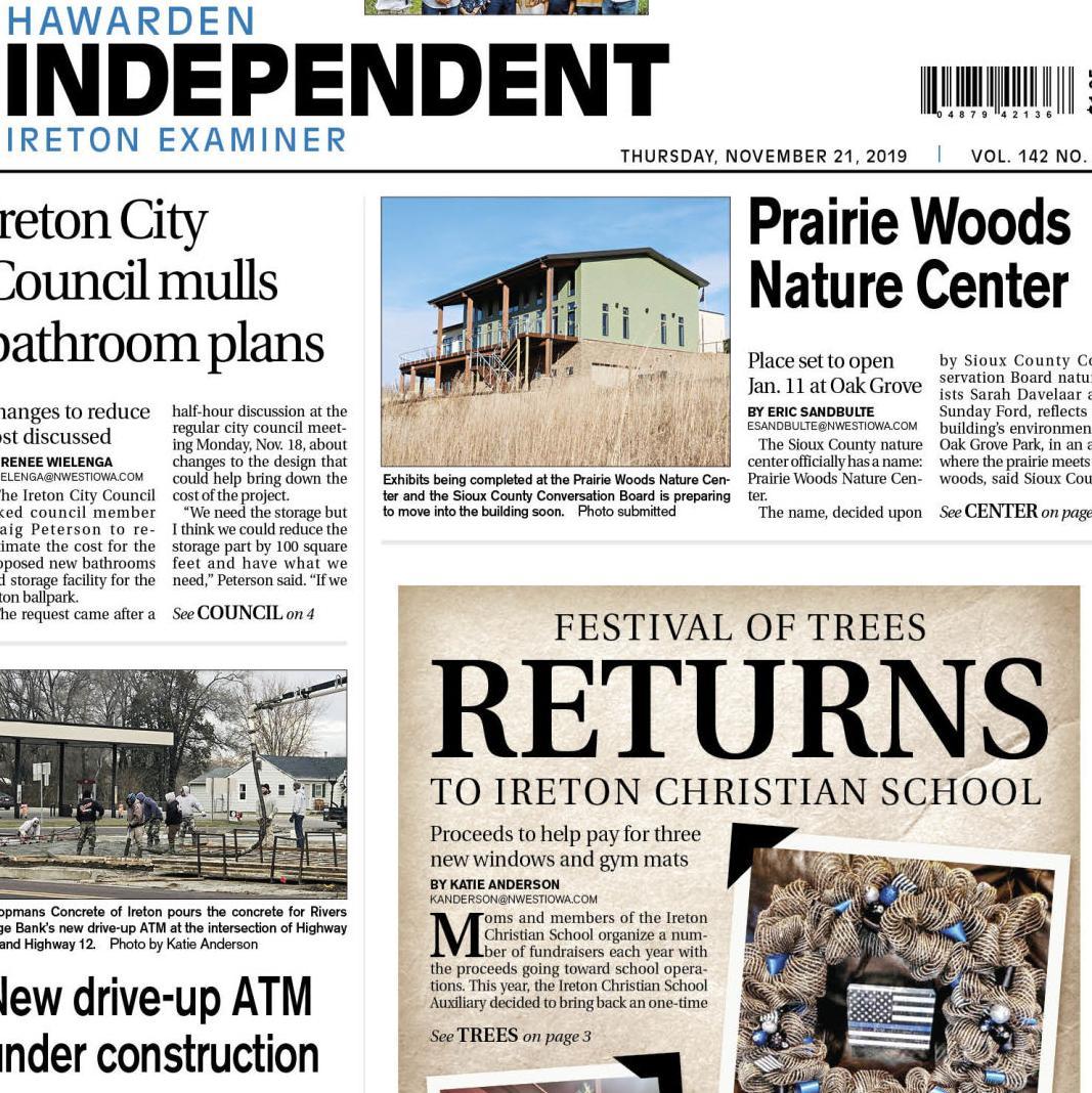 Hawarden Independent/Ireton Examiner Nov. 21, 2019