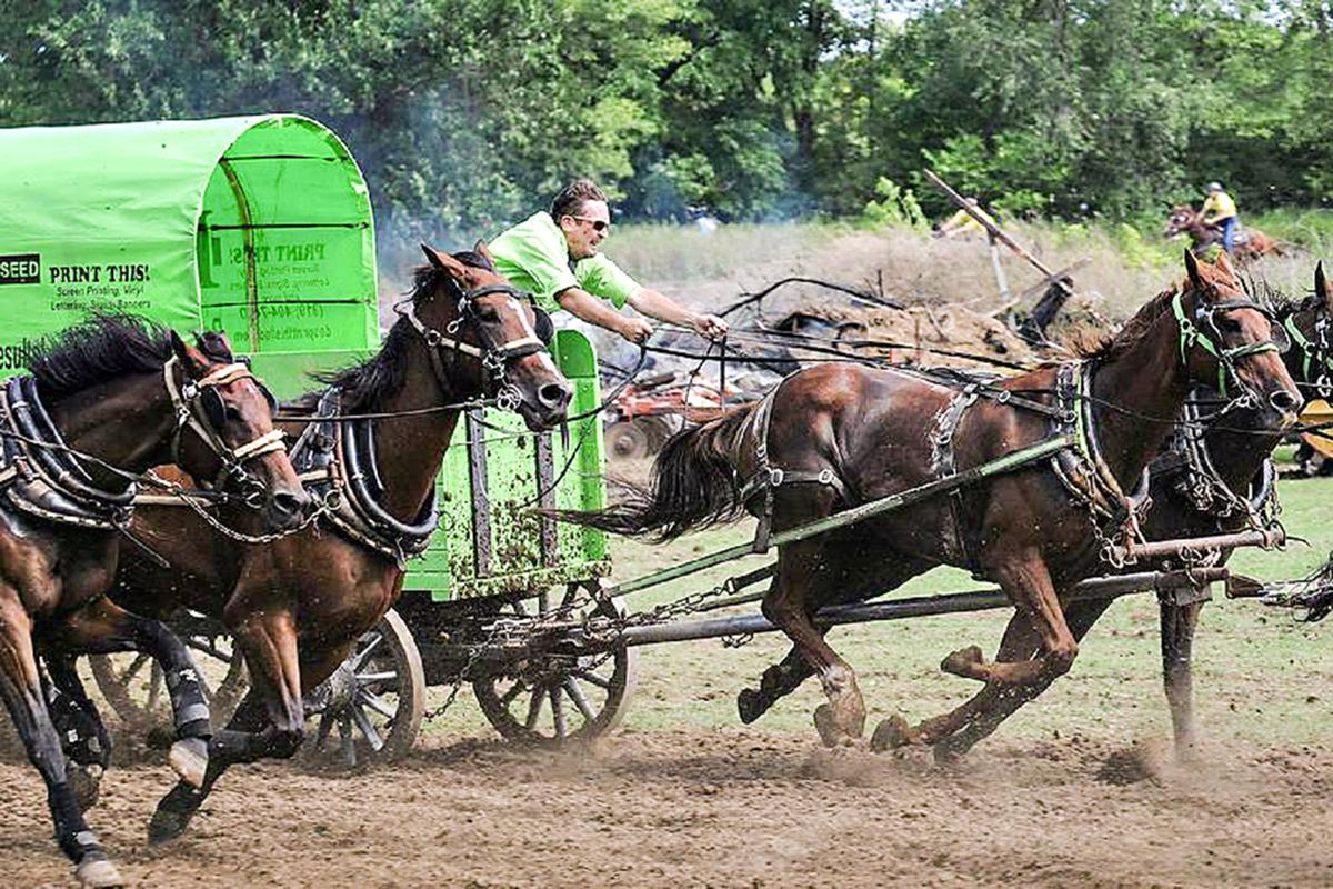 Chuckwagon races end at Clay County Fair
