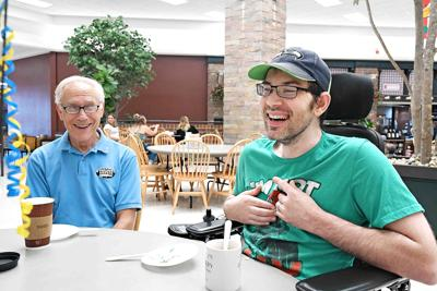 Men's coffee group gives birthday surprise
