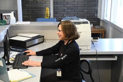Janice Wielenga at desk