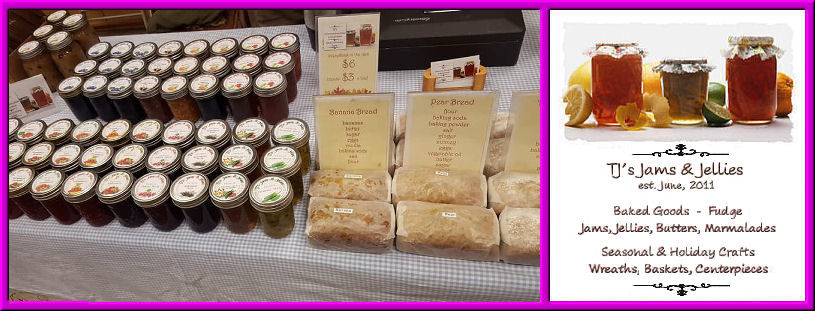 Baked goods, jellies and jams available
