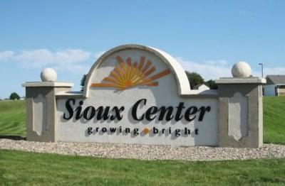 Sioux Center welcome sign