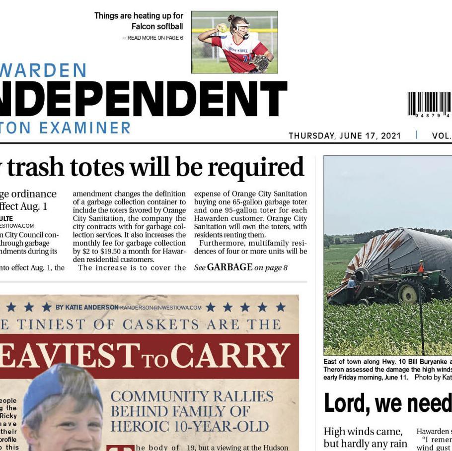 Hawarden Independent/Ireton Examiner June 17, 2021