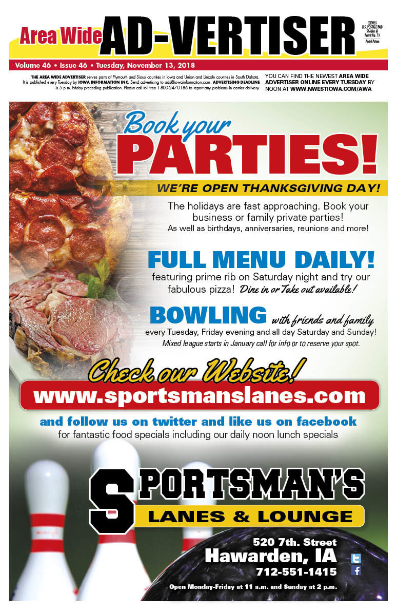 Area Wide Ad-vertiser - Nov. 13, 2018