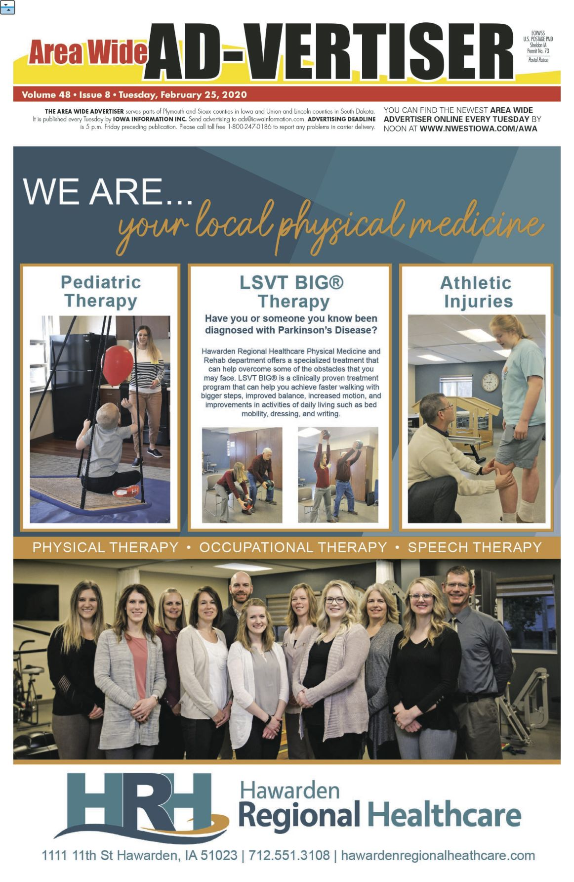 Area Wide Ad-vertiser: February 25, 2020