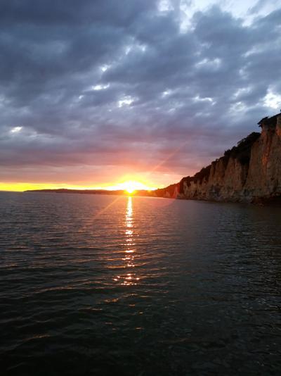 Sun set on the Missouri RIver