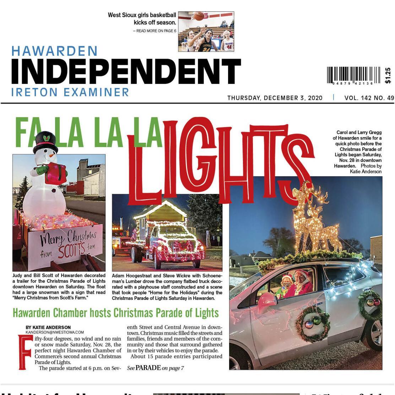 Hawarden Independent/Ireton Examiner Dec. 3, 2020