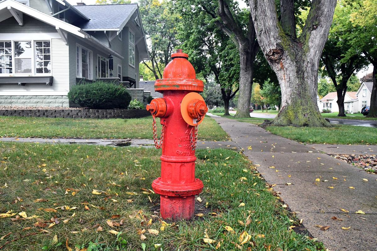 Sioux Center orange-capped fire hydrant