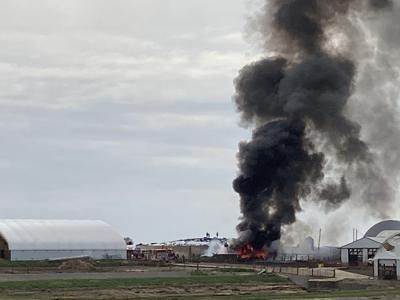 Tire fire breaks out at De Hoog Dairy