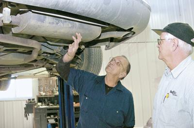 ATLAS mechanics inspect car