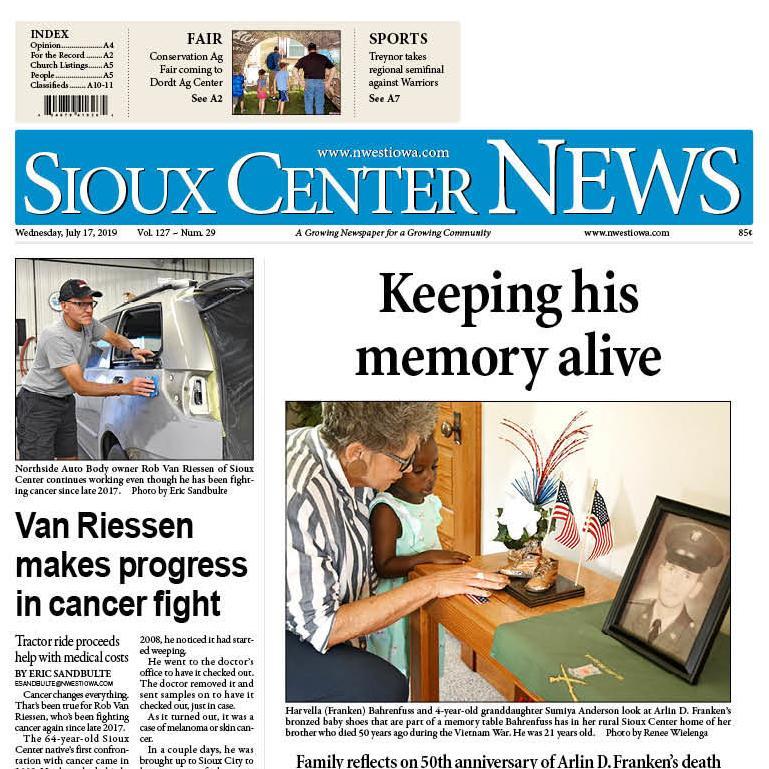Sioux Center News July 17, 2019