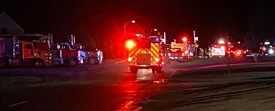 Fire crews fight flames