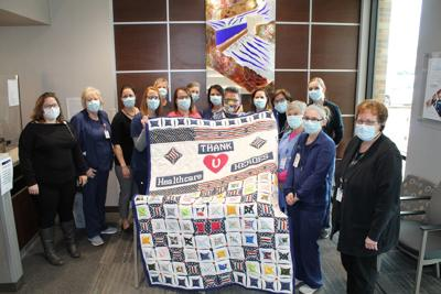 Silvey makes quilt for Rock Rapids clinic