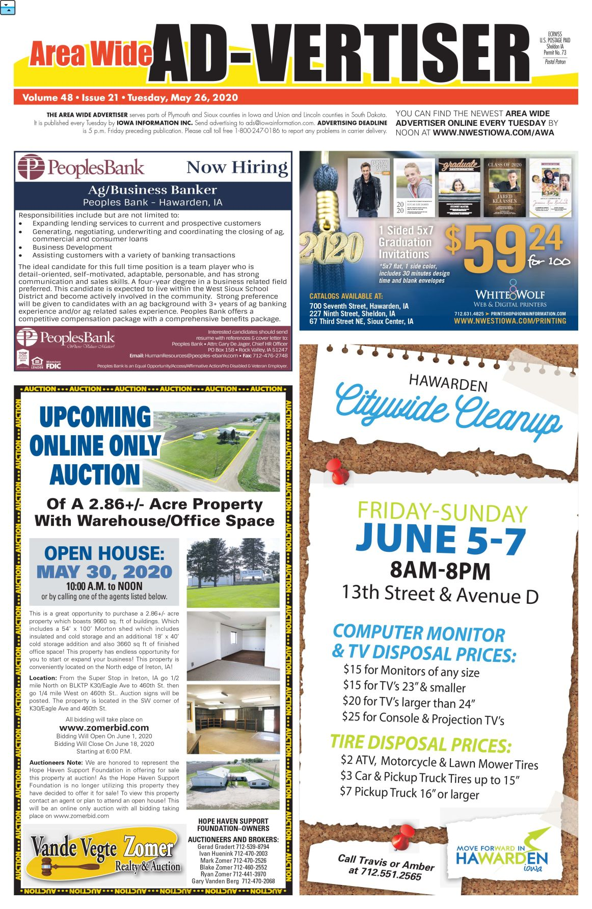 Area Wide Ad-vertiser: May 26, 2020