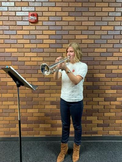 Ellie Hurst plays trumpet