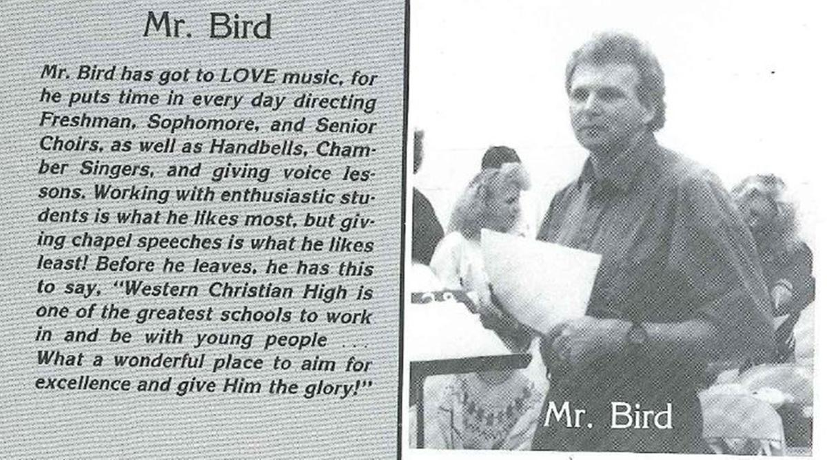 Bill Bird yearbook photo