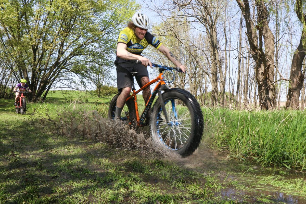Drew Mills riding a fat bike