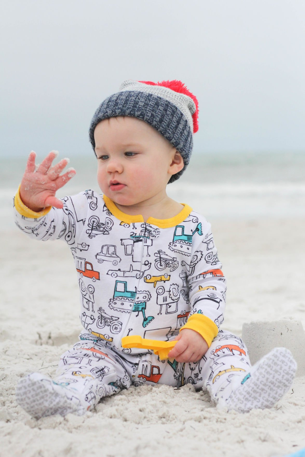 Take 5: Bennett plays in the sand
