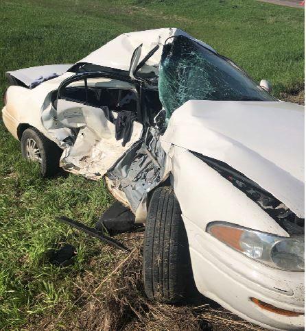 Mindi Wikstrom's totaled car