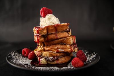 Nutella Stuffed French Toast with Raspberry Syrup