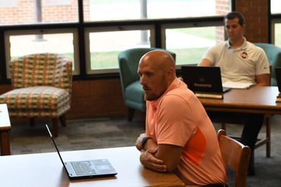 Jason Groendyke speaks to school board