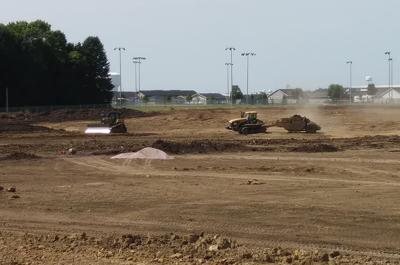 Digging at new Sioux Center High School