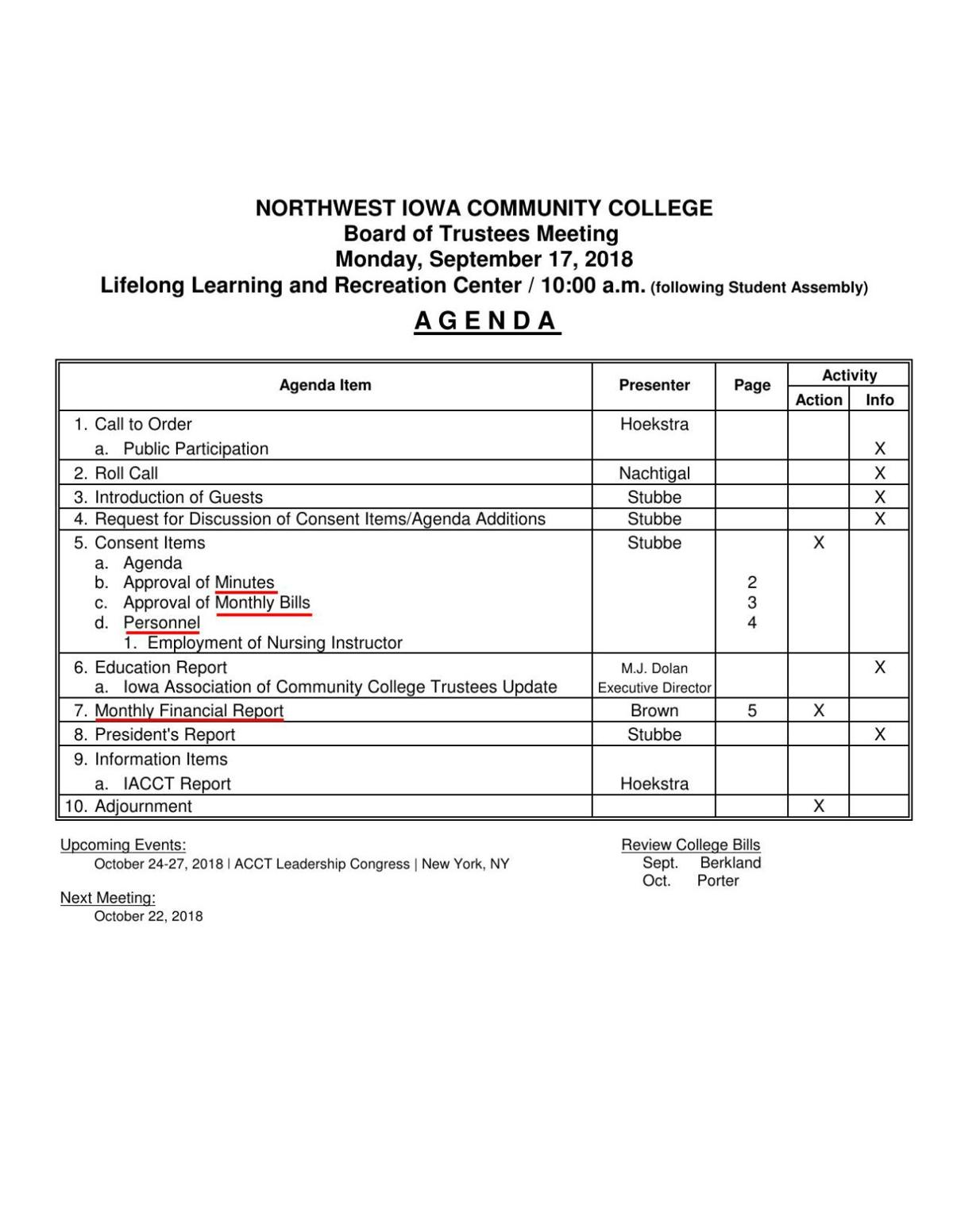 Sept  17 NCC board agenda | News | nwestiowa com