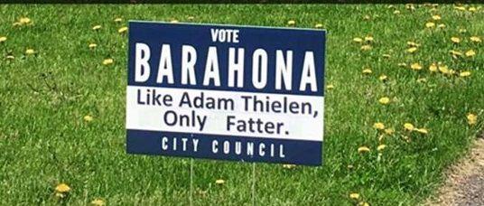 Barahona yard sign